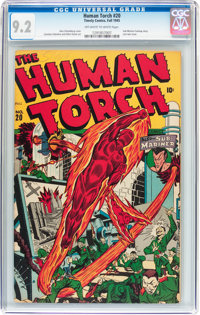 The Human Torch #20 (Timely, 1945) CGC NM- 9.2 Off-white to white pages