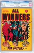 Golden Age (1938-1955):Superhero, All Winners Comics #6 (Timely, 1942) CGC VF+ 8.5 Off-white pages....