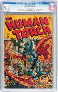 Golden Age (1938-1955):Superhero, The Human Torch #23 (Timely, 1946) CGC NM- 9.2 Off-white to white pages....