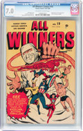 Golden Age (1938-1955):Superhero, All Winners Comics #19 (Timely, 1946) CGC FN/VF 7.0 Off-white to white pages....