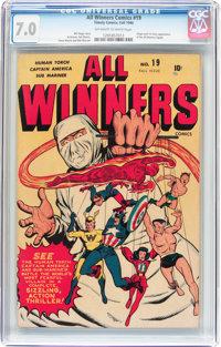 All Winners Comics #19 (Timely, 1946) CGC FN/VF 7.0 Off-white to white pages