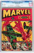 Golden Age (1938-1955):Superhero, Marvel Mystery Comics #44 (Timely, 1943) CGC VF 8.0 Off-white pages....