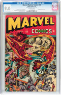 Golden Age (1938-1955):Superhero, Marvel Mystery Comics #58 (Timely, 1944) CGC VF/NM 9.0 Off-white pages....