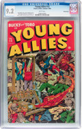 Golden Age (1938-1955):Superhero, Young Allies Comics #13 Pennsylvania pedigree (Timely, 1944) CGC NM- 9.2 White pages....