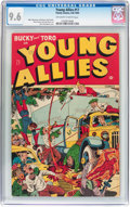 Golden Age (1938-1955):Superhero, Young Allies Comics #17 (Timely, 1945) CGC NM+ 9.6 Off-white to white pages....