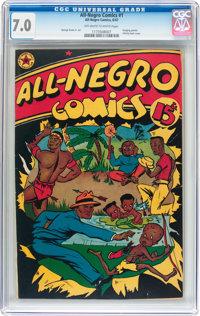 All-Negro Comics #1 (All-Negro Comics, 1947) CGC FN/VF 7.0 Off-white to white pages