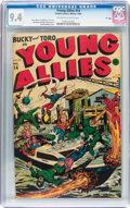 """Golden Age (1938-1955):Superhero, Young Allies Comics #14 Davis Crippen """"D"""" Copy pedigree (Timely, 1944) CGC NM 9.4 Off-white to white pages...."""