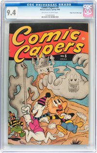 Comic Capers #5 Mile High pedigree (Red Circle/Marvel, 1946) CGC NM 9.4 Off-white to white pages