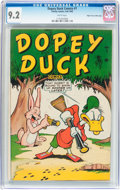Golden Age (1938-1955):Funny Animal, Dopey Duck Comics #1 Mile High Pedigree (Timely, 1945) CGC NM- 9.2White pages....
