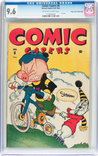 Comic Capers #6 Mile High Pedigree (Red Circle/Marvel, 1946) CGC NM+ 9.6 Off-white to white pages
