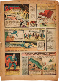 Action Comics #1 Pages Including Entire First Superman Story (DC, 1938)