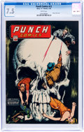 Golden Age (1938-1955):Crime, Punch Comics #12 (Chesler, 1945) CGC VF- 7.5 White pages....