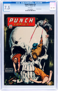 Punch Comics #12 (Chesler, 1945) CGC VF- 7.5 White pages