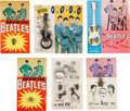 Music Memorabilia:Memorabilia, Beatles Tie Tac and Pin Collection on Six Original Display Cards(UK, 1964)....