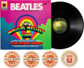 Music Memorabilia:Recordings, Beatles Magical Mystery Tour Horzu True Stereo LP, with RareHorzu Sgt. Pepper Promotional Coasters (...