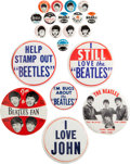 Music Memorabilia:Memorabilia, Beatles Collection of Twenty Vintage Pinback Buttons (US,Mid-1960s). ...