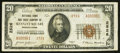 National Bank Notes:Pennsylvania, Kennett Square, PA - $20 1929 Ty. 2 NB & TC Ch. # 2526. ...