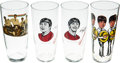 Music Memorabilia:Memorabilia, A Group of Beatles Drinking Glasses (Holland and UK)....