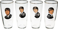 A Set of Four Beatles Drinking Glasses With Misprints (Holland, 1964.)