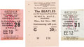 Music Memorabilia:Tickets, A Group of Three English and Irish Beatles Ticket Stubs, (UK,1963/64)....