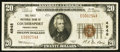 National Bank Notes:Pennsylvania, Coudersport, PA - $20 1929 Ty. 1 The First NB Ch. # 4948. ...