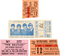 Four Beatles Ticket Stubs, Including Shea Stadium (US, 1964-66)