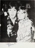 Music Memorabilia:Autographs and Signed Items, The Beatles: Paul and Linda McCartney Signed PhotographicPostcard....
