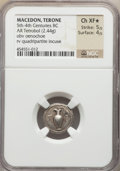 Ancients:Greek, Ancients: MACEDON. Terone. Ca. 400-350 BC. AR tetrobol (2.44gm)....