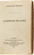 Books:Religion & Theology, [Religion/Travel]. Missionary Record: Sandwich Islands.London: The Religious Tract Society, 1839....
