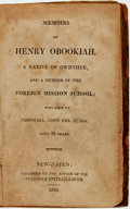 Books:Biography & Memoir, Henry Obookiah. Memoirs of Henry Obookiah, a Native of Owhyhee,and a Member of the Foreign Mission School. New-...