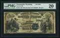 National Bank Notes:Wyoming, Thermopolis, WY - $20 1882 Date Back Fr. 555 The First NB Ch. #(W)5949. ...