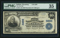 National Bank Notes:Wyoming, Buffalo, WY - $10 1902 Plain Back Fr. 624 The First NB Ch. # 3299. ...