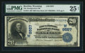 National Bank Notes:Wyoming, Rawlins, WY - $20 1902 Date Back Fr. 644 The Stockgrowers NB Ch. #(W)9557. ...