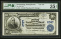 National Bank Notes:Pennsylvania, Stroudsburg, PA - $10 1902 Plain Back Fr. 624 The First NB Ch. #2787. ...