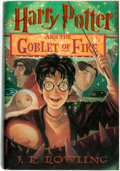 Books:Children's Books, J. K. Rowling. Harry Potter and the Goblet of Fire. ArthurA. Levine Books, [2000]....