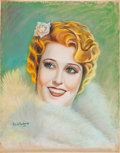 Movie/TV Memorabilia:Original Art, A Jeanette MacDonald Pastel Portrait by Charles de Ravenne,1936.... (Total: 2 )