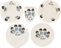 Music Memorabilia:Memorabilia, A Group of Five Beatles Dishware Items by Washington Pottery (UK,1963).... (Total: 2 Items)