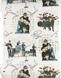 Music Memorabilia:Memorabilia, A Full Roll of Beatles Wallpaper By Crown (UK, 1964)....