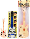 Music Memorabilia:Memorabilia, Beatles Group of Three Unlicensed Toy Guitars....