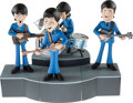 Music Memorabilia:Memorabilia, Beatles Saturday Morning Cartoon Figure Set with Instruments andStage by McFarlane (US, 2004)....