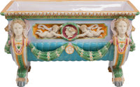 A French Majolica Neoclassical Jardinière, 19th century 14 inches high x 24 inches wide x 13-1/2 inches deep (35...