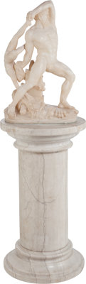 After Antonio Canova (Italian, 19th Century) Hercules and Lycus Marble 27 inches (68.6 cm) high o