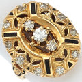 Estate Jewelry:Rings, Diamond, Enamel, Gold Ring. ...