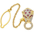 Estate Jewelry:Brooches - Pins, Ruby, Diamond, Gold, Yellow Metal Tie Tack. ...