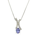 Estate Jewelry:Necklaces, Tanzanite, Diamond, Platinum Necklace. ...