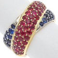 Estate Jewelry:Rings, Ruby, Sapphire, White and Yellow Gold Ring. ...