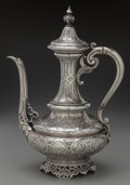 Silver & Vertu:Hollowware, A Froment-Meurice Silver Turkish Coffee Pot, Paris, France, circa 1880. Marks: (Minerva), FROMENT-MEURICE. 11-1/4 inches...
