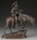 Fine Art - Sculpture, European:Antique (Pre 1900), After Isidore Jules Bonheur (French, 20th Century). SpanishMusician, 1870. Bronze with brown patina. 15 inches (38.1 cm...