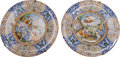 Ceramics & Porcelain, Continental:Antique  (Pre 1900), Two Large Italian Majolica Chargers, 19th century. 23 inches diameter (58.4 cm). ... (Total: 2 Items)