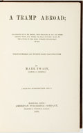 Books:Literature Pre-1900, [Featured Lot]. Mark Twain. A Tramp Abroad. Hartford, CT:American Publishing Company, 1880. First edition. ...